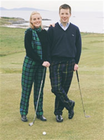 Picture of Ladies Tartan Trousers