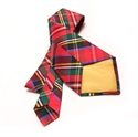 Picture of Tie Necktie Pure Dupion Silk tartan