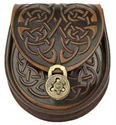 Picture of Sporran, Celtic Leather Interlace