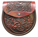 Picture of Sporran, Celtic Leather, Celtic Dog