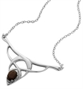 Picture of Laced Silver Pendant, with Smoky Quartz