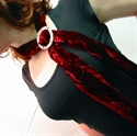 Picture of Stunning Velvet Scarf with Celtic Scarf Ring
