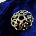 Picture of Mini Plaid Brooch Celtic Interlace