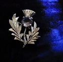 Picture of Mini Plaid Brooch Small Thistle