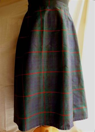 Versace Women Clothing Pleated Tartan Skirt Silk 29 13209774 Brjmbba