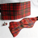 Picture of Cummerbund, Selftie Bow-tie and Cufflink Set, in ANY Tartan