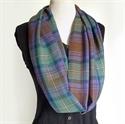 Picture of Tartan Eternity Scarf, Loop Scarf, Fine Wool