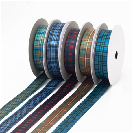 Picture of Tartan Ribbon, Sateen Polyester in 700 Stock-List Tartans, 23mm